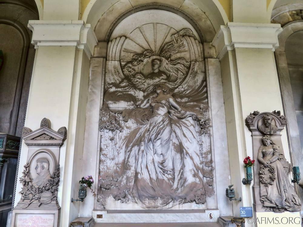 Debarbieri Memorial sculpted by Luigi Brizzolara