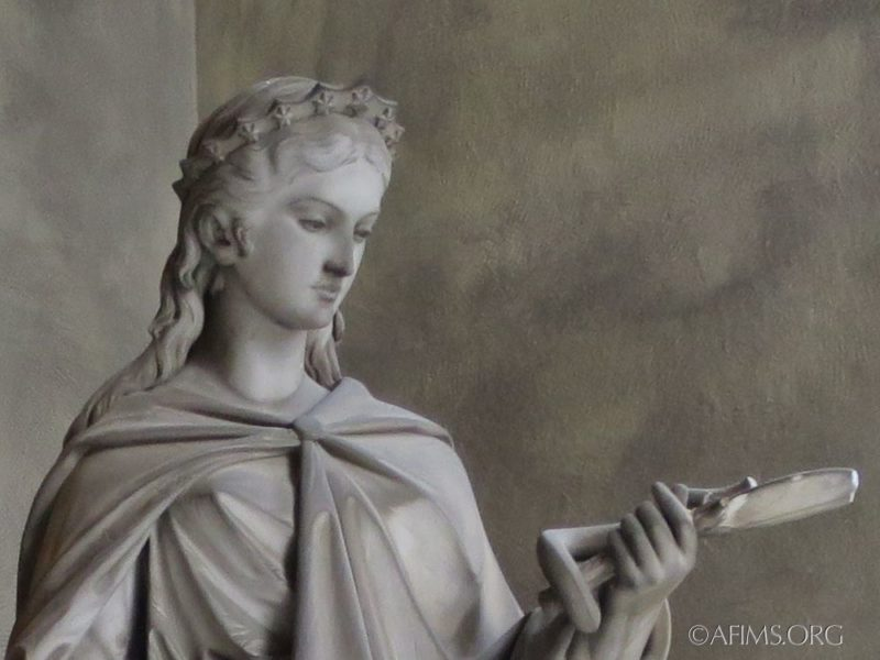 Chiapella DeKatt memorial: the statue of Virtue