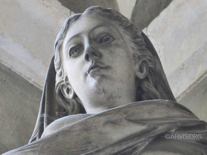 Detail of the Marchese statue.