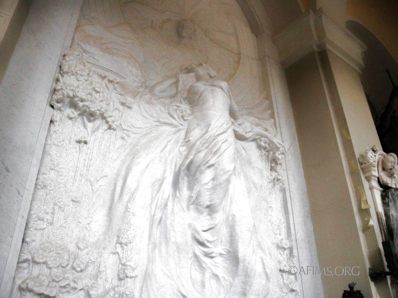 The restored sculpture