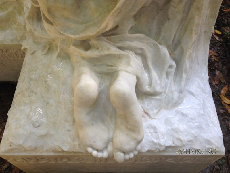 Marble feet after restoration