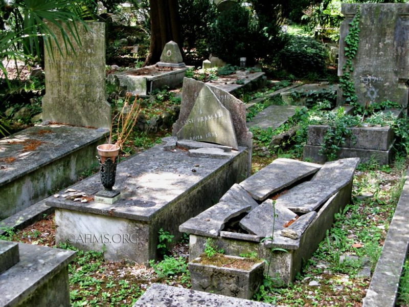 Jewish cemetery section