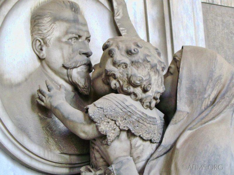F.G. Casella Memorial, 1884. Giuseppe Benetti, Sculptor.