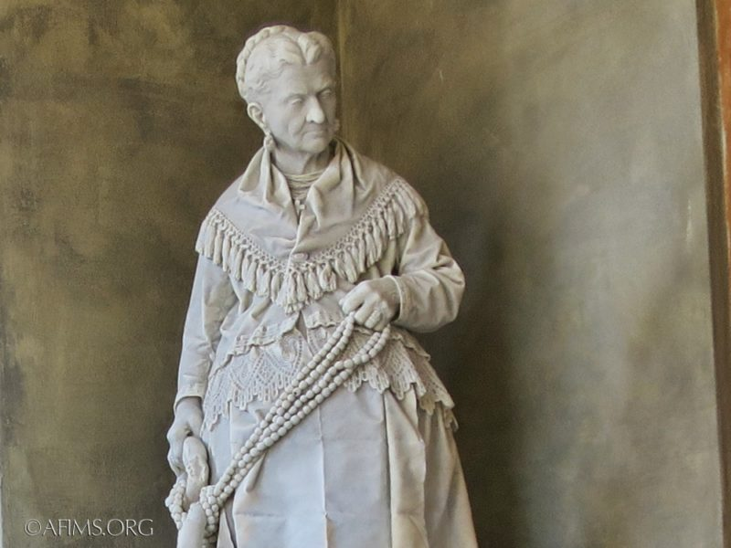 The restored statue of Caterina Campodonico